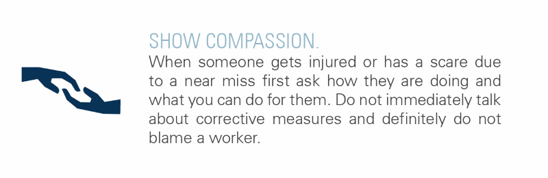 Show compassion when someone has an incident